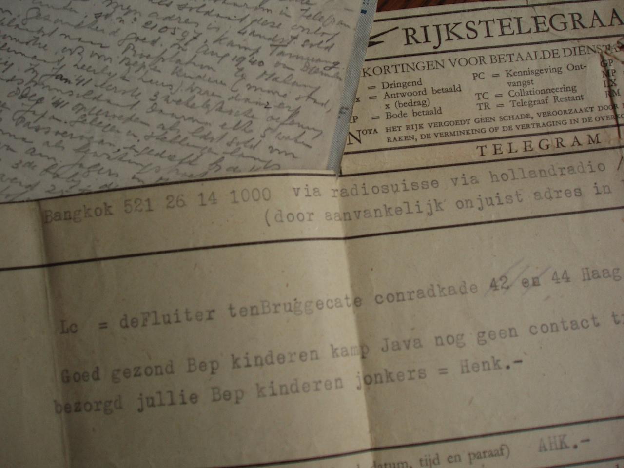 pogingen tot contact na augustus 1945