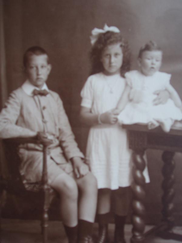 Joop, Betsy en Wim Jonker